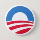 Obamalogo-Knopf 2012 Runder Button 7,6 Cm