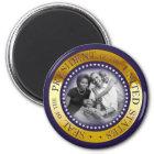 ObamapräsidentenSiegel-Porträt Runder Magnet 5,1 Cm