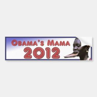 Obamas Mutter 2012 Autoaufkleber