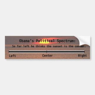 Obamas politisches Spektrum Autoaufkleber
