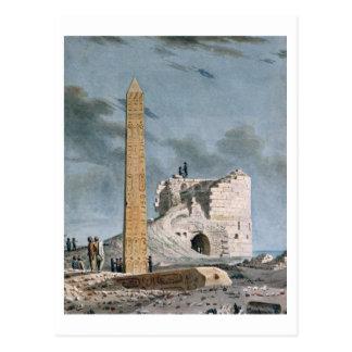 Obelisk von Kleopatra (w/c auf Papier) Postkarte