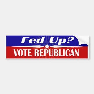 Oben gefüttert? Abstimmung republikanisch, Autoaufkleber