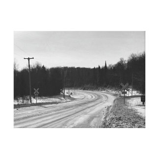 Obere Halbinsel-Michigan-Eisenbahn-industrielle Leinwanddruck