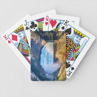 Obere Yellowstone-Fälle Bicycle Spielkarten