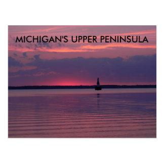 Oberer Michigan-Sonnenaufgang Postkarte