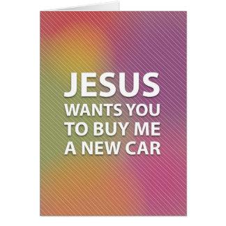 Oberflächlicher Jesus Grußkarte