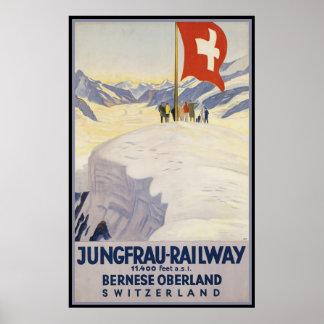 Oberland de Bernese de Jungfrau-Chemin de fer Affiches