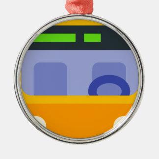 Oberleitungsbus Silbernes Ornament
