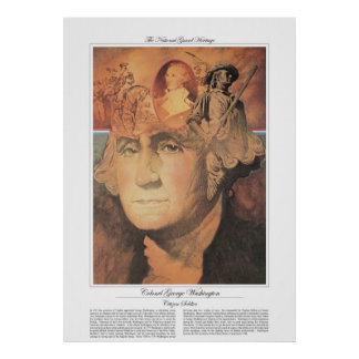 OBERST GEORGE WASHINGTON Bürger-Soldat Poster