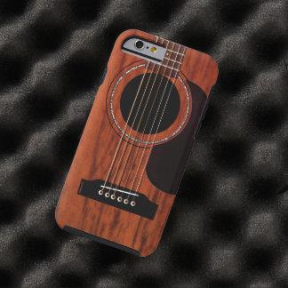 Oberste Mahagoniakustikgitarre Tough iPhone 6 Hülle