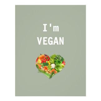 Obst- und GemüseHerz - vegan 21,6 X 27,9 Cm Flyer