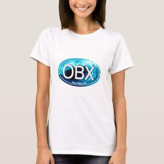 OBX äußere Banken bewegen Oval wellenartig T-Shirt