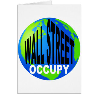 Occupy Wall Street global Grußkarte