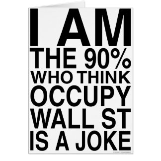 Occupy Wall Street Grußkarte