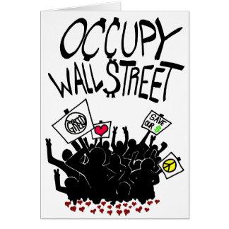 Occupy Wall Street-Protest Karten