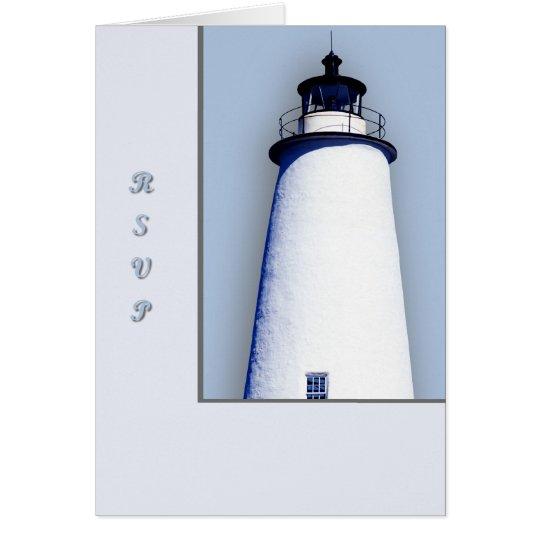 Ocracoke Leuchtturm Grußkarte