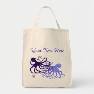 Octopodes in Lila - Lebensmittelgeschäft-Tasche Tragetasche