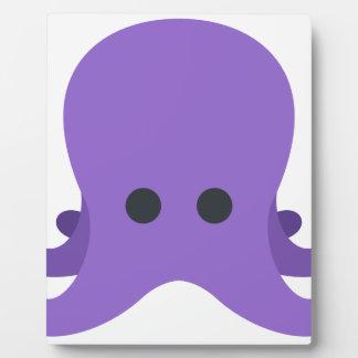 Octopuss Emoji Fotoplatte