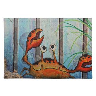 Ocypoid Krabbe Stofftischset