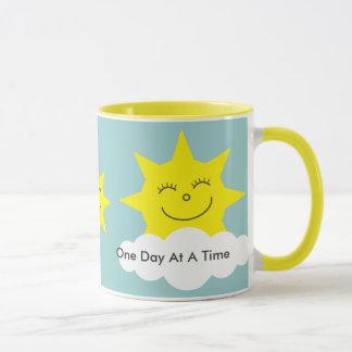 ODAAT gelbe Wecker-Tasse glücklicher Sonnen Tasse