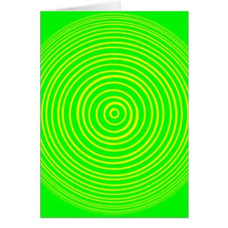 Oddisphere Gelbgrün-optische Täuschung Karte