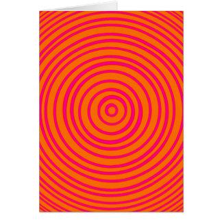 Oddisphere rosa orange optische Täuschung Karte