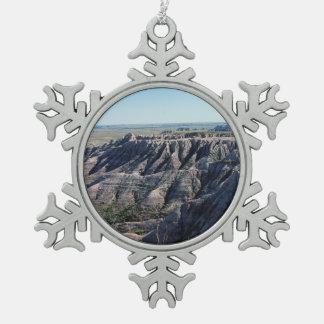 Ödländer South Dakota Schneeflocken Zinn-Ornament