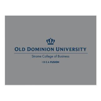ODU Strome Uni des Geschäfts - Blau Postkarte