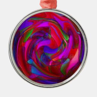 Odyssee des Verstandes Rundes Silberfarbenes Ornament