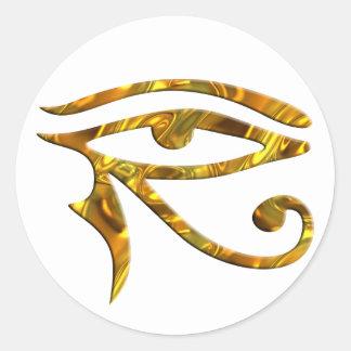 Oeil de Horus - OR Autocollant Rond