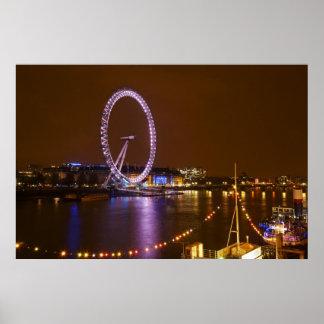 Oeil, Tamise et lumières de Londres de Poster