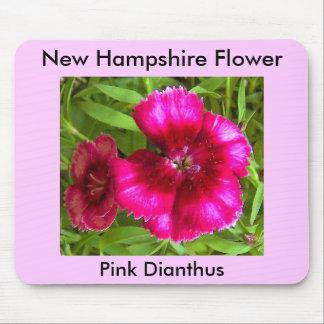 Oeillet rose, oeillet rose, fleur du New Hampshire Tapis De Souris