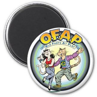 OFAP : Vieux pets à l'aimant de jeu Magnet Rond 8 Cm