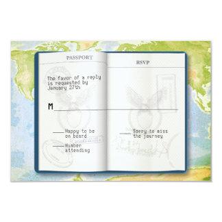 Offene Pass-Bar-Schläger Mitzvah Antwort 8,9 X 12,7 Cm Einladungskarte