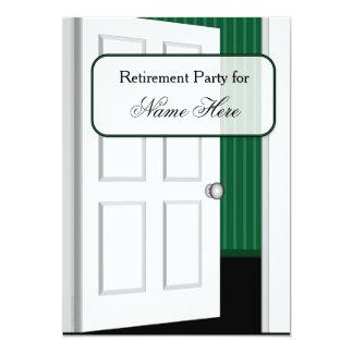 Offene Tür-Ruhestands-Party 12,7 X 17,8 Cm Einladungskarte