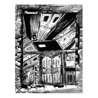 Offene Türen Postkarte