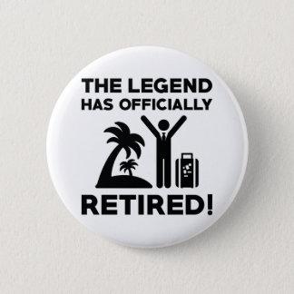 Offiziell zurückgezogen runder button 5,7 cm
