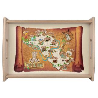 Offizielle exotische Tiki Inselpodcast-Grafik Tablett