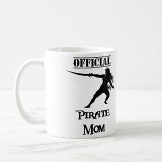 Offizielle Piraten-Mamma mit Klinge - Schwarzes Kaffeetasse
