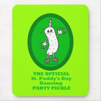 Offizielle St Patrick Tagestanzen-Party-Essiggurke Mousepads