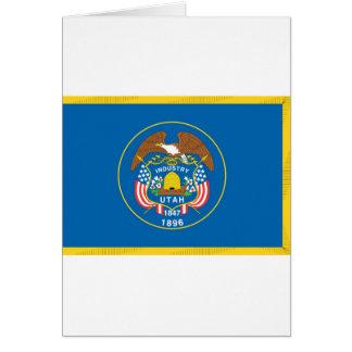 Offizielle Staats-Flagge Utahs Karte