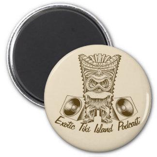 Offizieller exotischer Tiki Runder Magnet 5,7 Cm