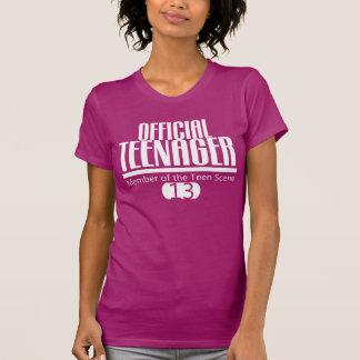 Offizieller JUGENDLICH-13. GEBURTSTAG T-Stück T-shirt