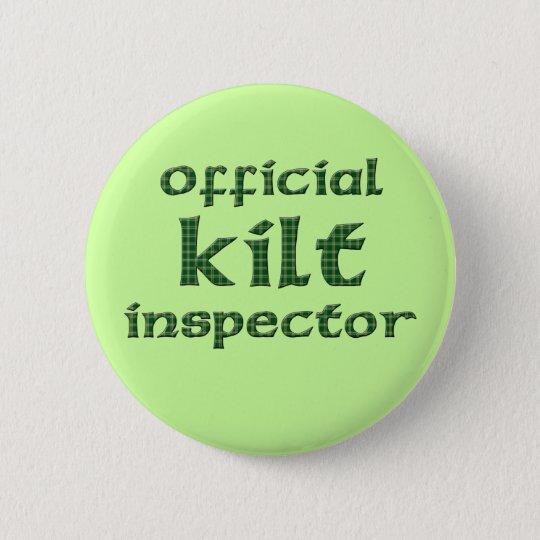 Offizieller Kilt-Inspektor Runder Button 5,7 Cm