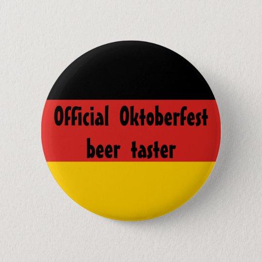 Offizieller Oktoberfest Bier-Schmecker Runder Button 5,1 Cm