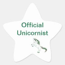 Offizieller Unicornist Stern Stern Aufkleber