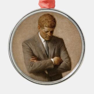 Offizielles das Haus-Porträt John F. Kennedy Rundes Silberfarbenes Ornament