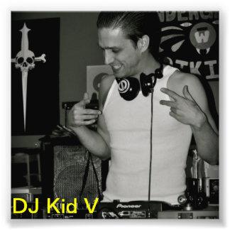 Offizielles DJ scherzen v-Foto Kunstphotos