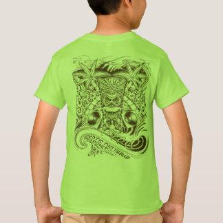 Offizielles exotisches Tiki Insel-Jungen-T-Stück T-Shirt