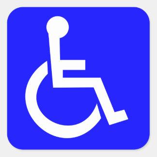 Offizielles internationales Symbol des Zugangs Quadrat-Aufkleber